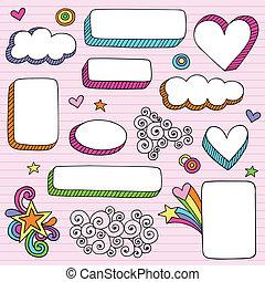 Notebook doodle Rahmen & Grenzen.