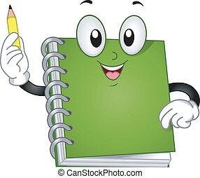 Notebook-Maskottchen.