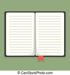 Notebook Vektorgrafik.