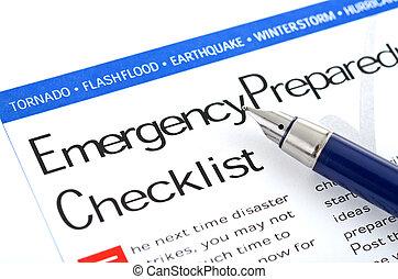 Notfall-Checkliste