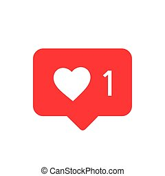 Notifications Icon. Wie Ikonenvektor. Soziale Medien wie Vektor-Ikone. Instagramm wie Benachrichtigung