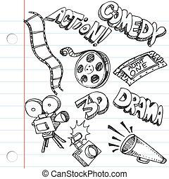 Notizbuchpapier-Unterhaltungs-Doodles
