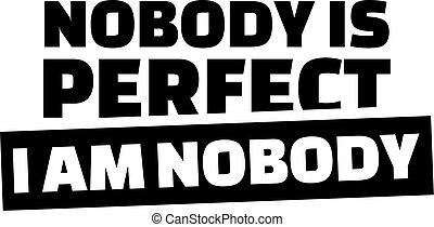 Novody ist perfekt. Ich bin niemand.