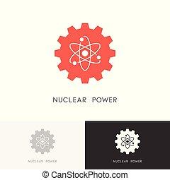Nukleares Energielogo