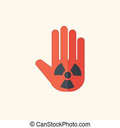 Nukleares flaches Icon
