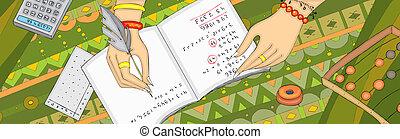 Numerologie-Arithmancy Hand-Banner