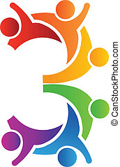 Nummer 3 Teamwork Logo.