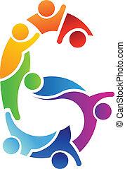 Nummer 6 Teamwork Image Logo.