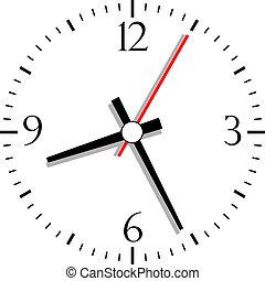 Nummerierte Uhr, Vektor Illustration