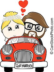 Nur verheirateter Cartoon.