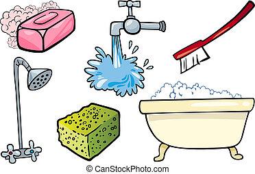 Objekthygiene, Cartoon-Illustration