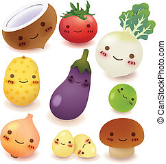 Obst und Gemüse.
