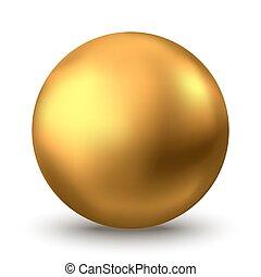 oder, hintergrund., gold, oel, kugelförmig, freigestellt, weißes, blase