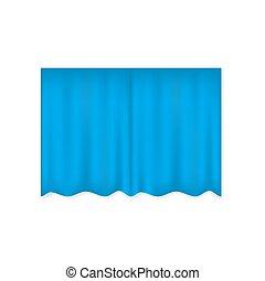 oder, rotes , badezimmer, theater, vektor, vorhang, schließen, zimmer, realistisch, blaues