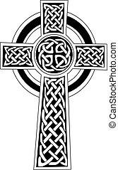oder, symbol, kunst, -, keltisch, t�towierung, kreuz