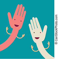 Offene Hand