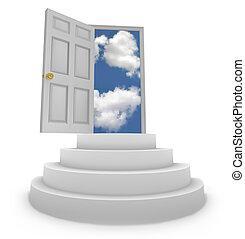 Offene Tür zu neuen Möglichkeiten