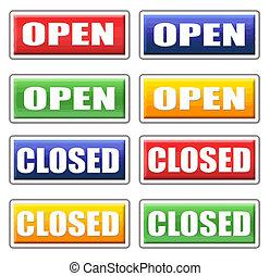 Offene und geschlossene Zeichen