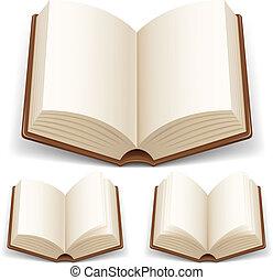 Offenes Buch mit weißen Seiten