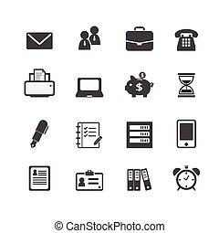 Office-Arbeitsplatzgeschäft Finanz-Web-Icons.