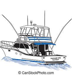 Offshore Sportfischereiboot