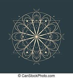 okkulte, mystisch, symbol.