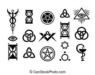 Okkulte Zeichen und magische Briefmarken