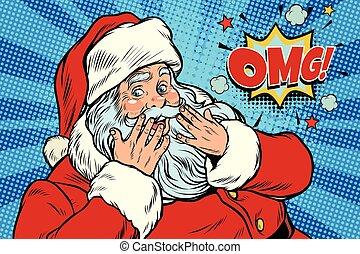 OMG überrascht die Reaktion des Weihnachtsmanns