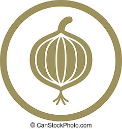 Onion Vektor Icon.