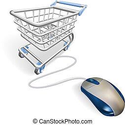 Online-Internet-Einkaufskonzept