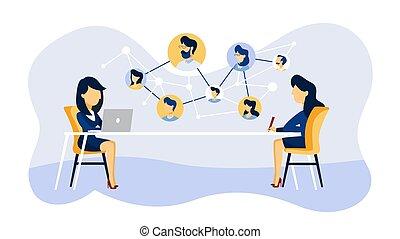 Online-Job-Interview. Manager sucht Kandidaten
