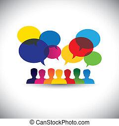 Online-Leute-Icons in Social Network & Media - Vektorgrafik