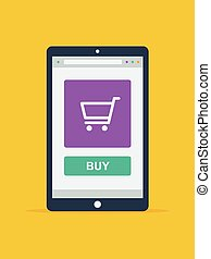 Online Shopping Konzept