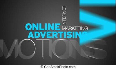 Online Werbewortwolke.