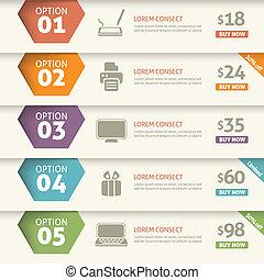 Option und Preis infographic.