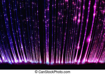 optisch, vorhang, faser, licht