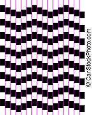 Optische Kunstserie: eine Quadratwelle