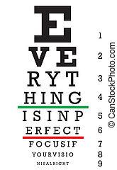 optometrie, beäugen diagramm, abbildung