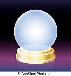 Orakelkristallkugel.
