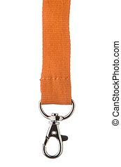 orange, schnur, lanyeard