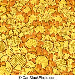 Orange und gelbe Blume nahtlos und wiederholt Hintergrund