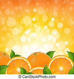 Orangen Hintergrund mit orangefarbenem Sonnenbrand