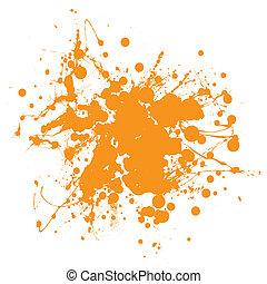 Orangen Tintenfleck