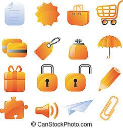 Orangene Icons eingestellt