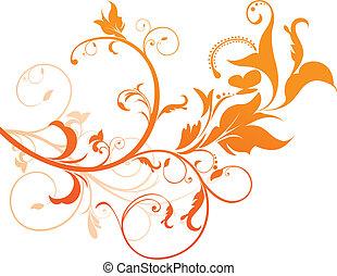 Orangenflor