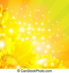 Orangensaft mit Sonnenbrand