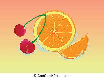 Orangenscheibe