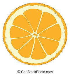Orangenschnitt.