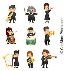 Orchestra-Musikspieler