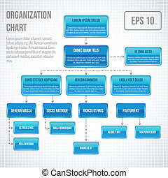 Organisationsdiagramm intografisch.